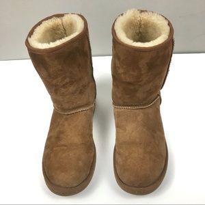 Ugg Classic Short Tan/Chestnut Sherpa Boot Sz W9